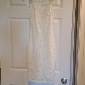 Lulu's White midi dress